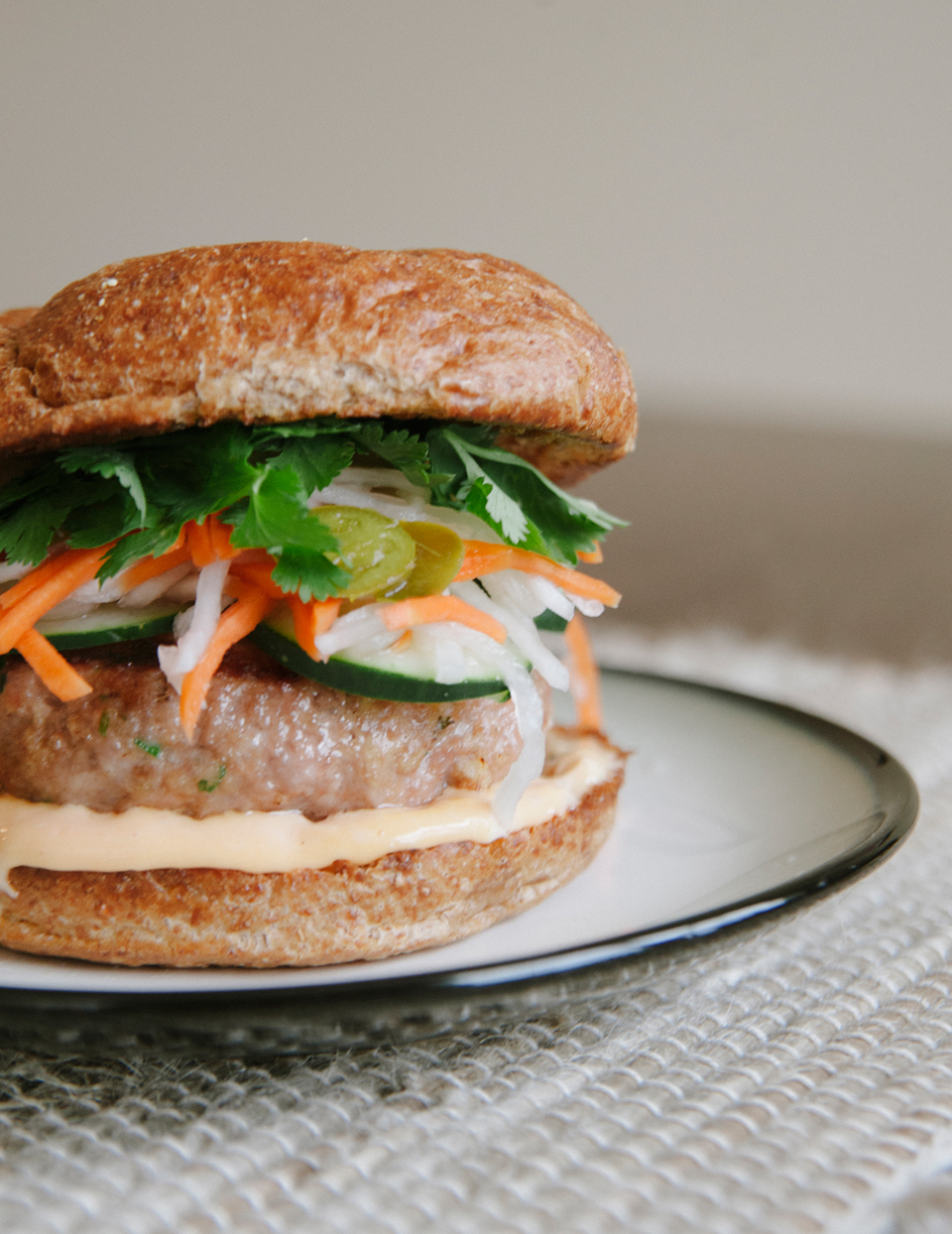 Bahn Mi Turkey Burgers